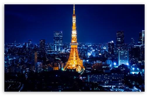 Tokyo Tower at night image