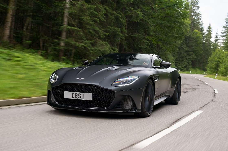 full black Aston Martin DBS Superleggera