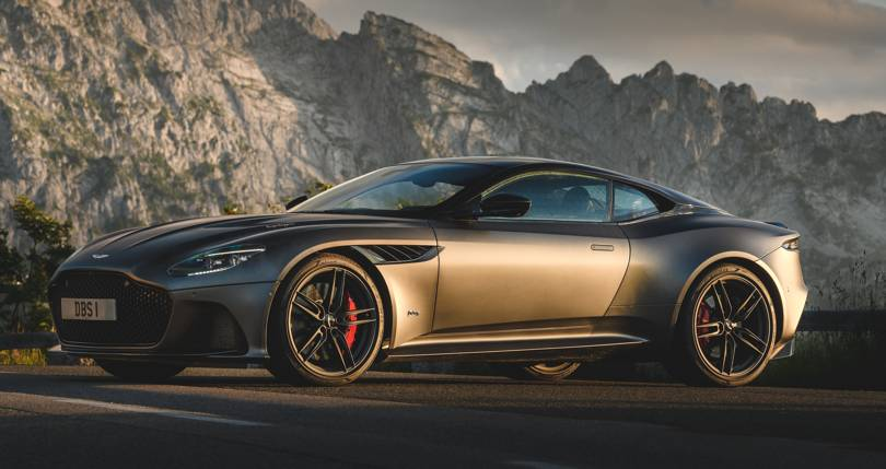 golden Aston Martin DBS Superleggera