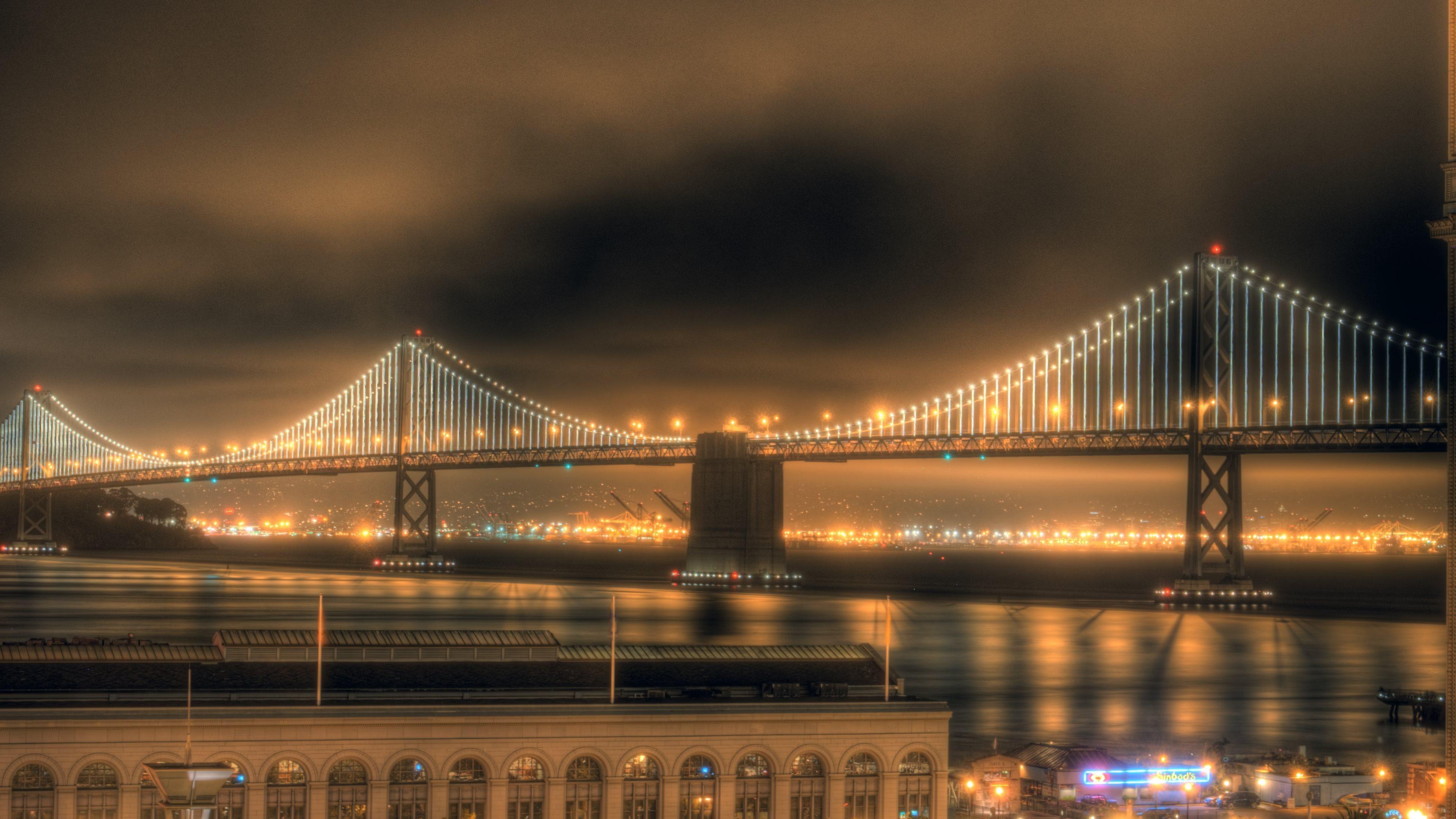 night city Bay Bridge Wallpaper