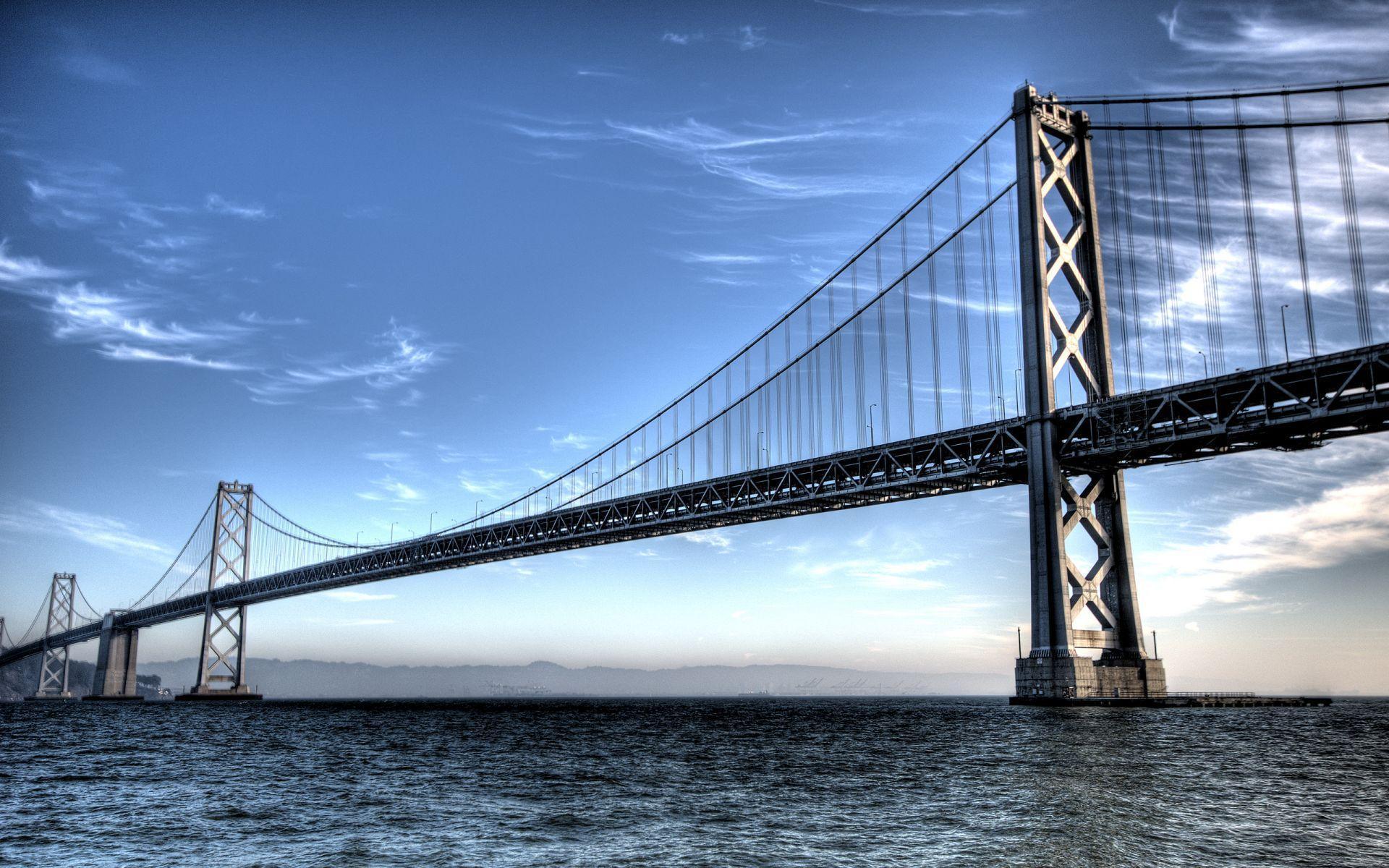 sea natural Bay Bridge Wallpaper
