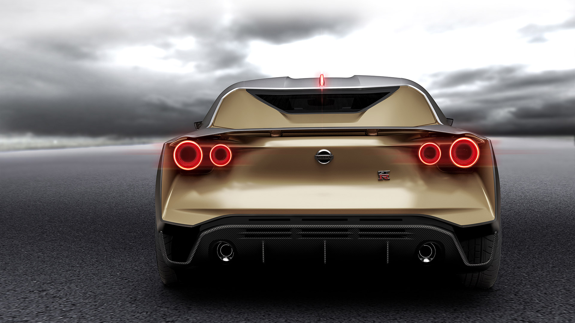backside Nissan GT-R50 Wallpaper