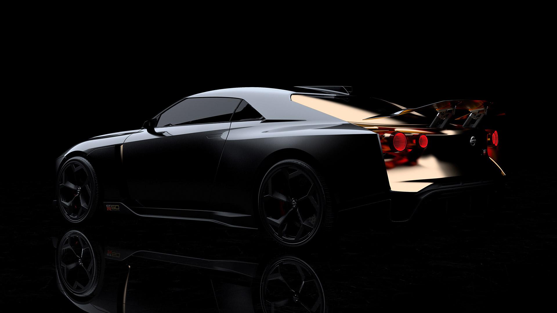 black 2018 Nissan GT-R50 Wallpaper
