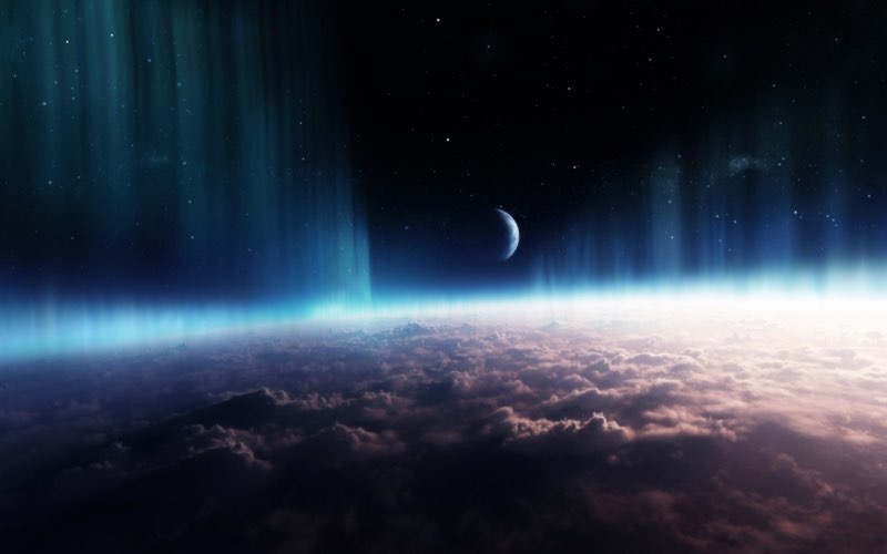 moon night HD Space Wallpaper