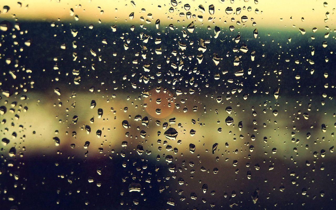 lovely view Rain Drops Wallpaper