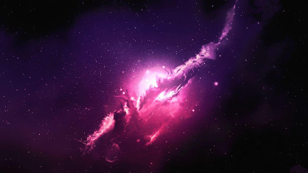 nebula pink galaxy image