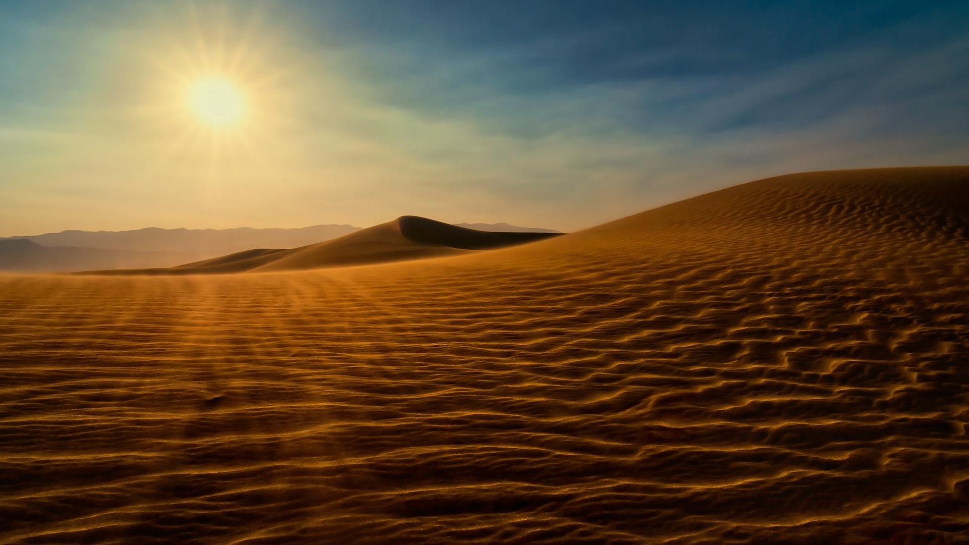 sand heat sky light HD Desert Wallpapers