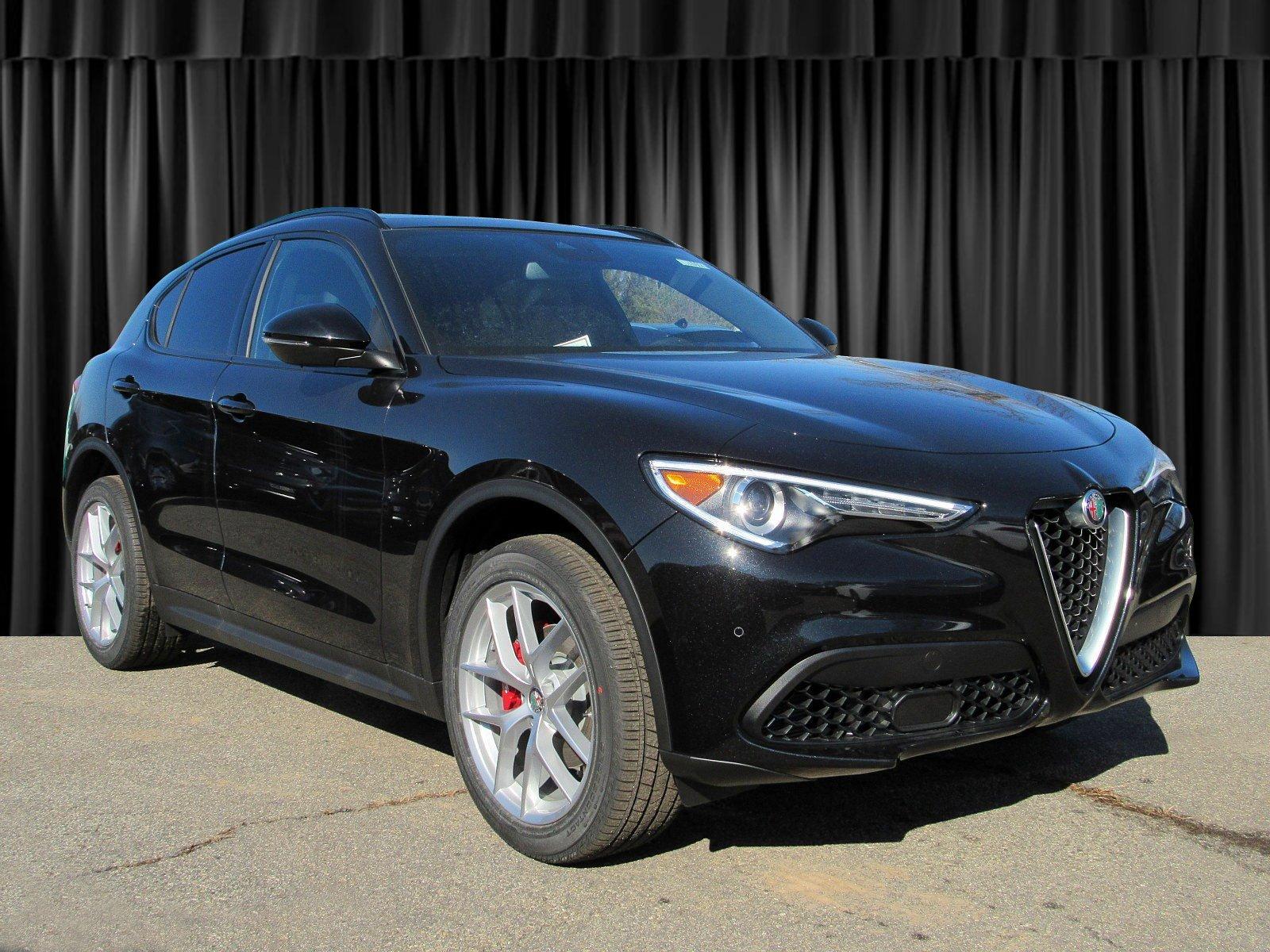black car Alfa Romeo Stelvio Ti