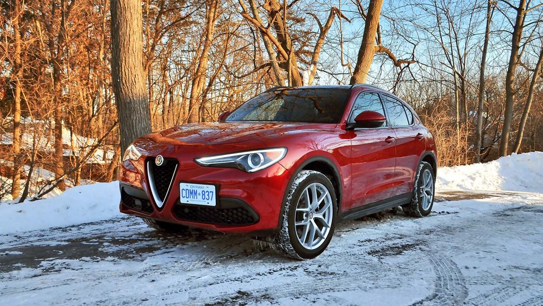 red Alfa Romeo Stelvio Ti