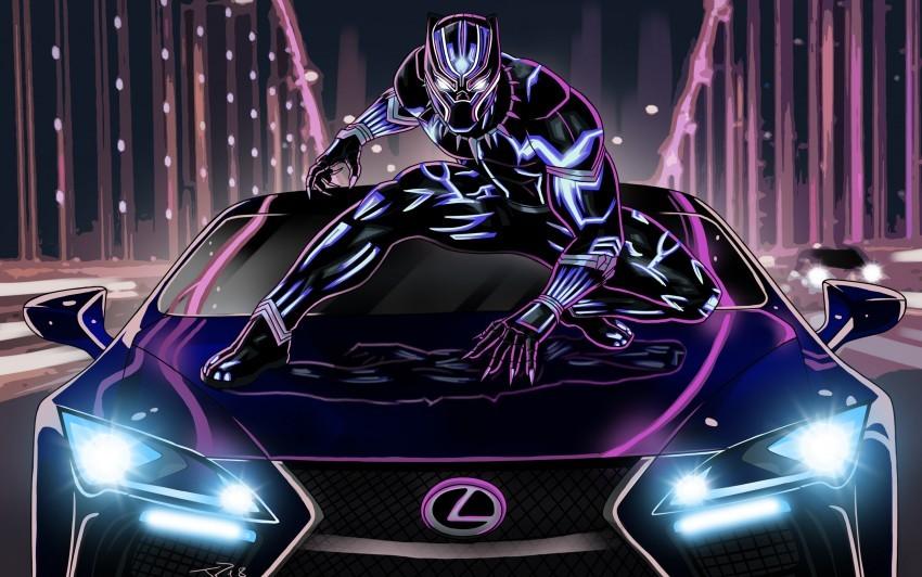 black panther on lexus image