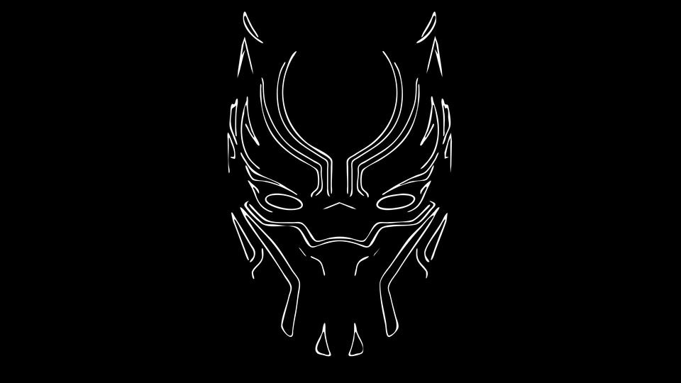 logo hd Black Panther Wallpaper