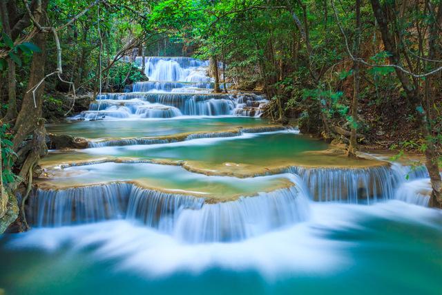 waterfall Natural Scene Background
