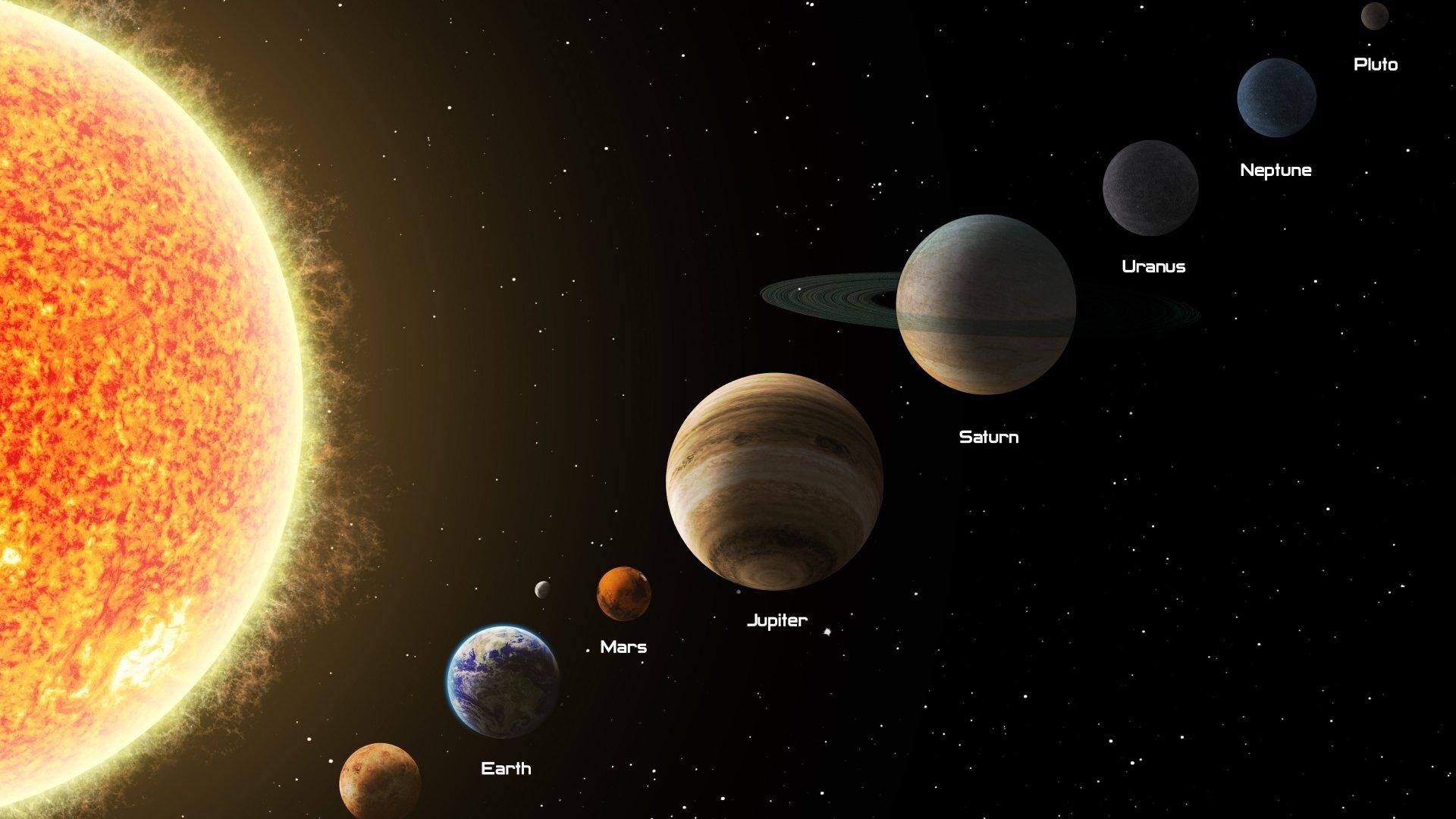free Solar System Wallpaper