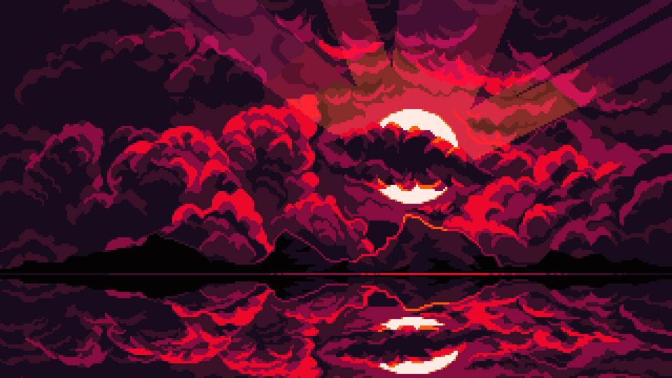 wonderful Blood Moon Wallpaper