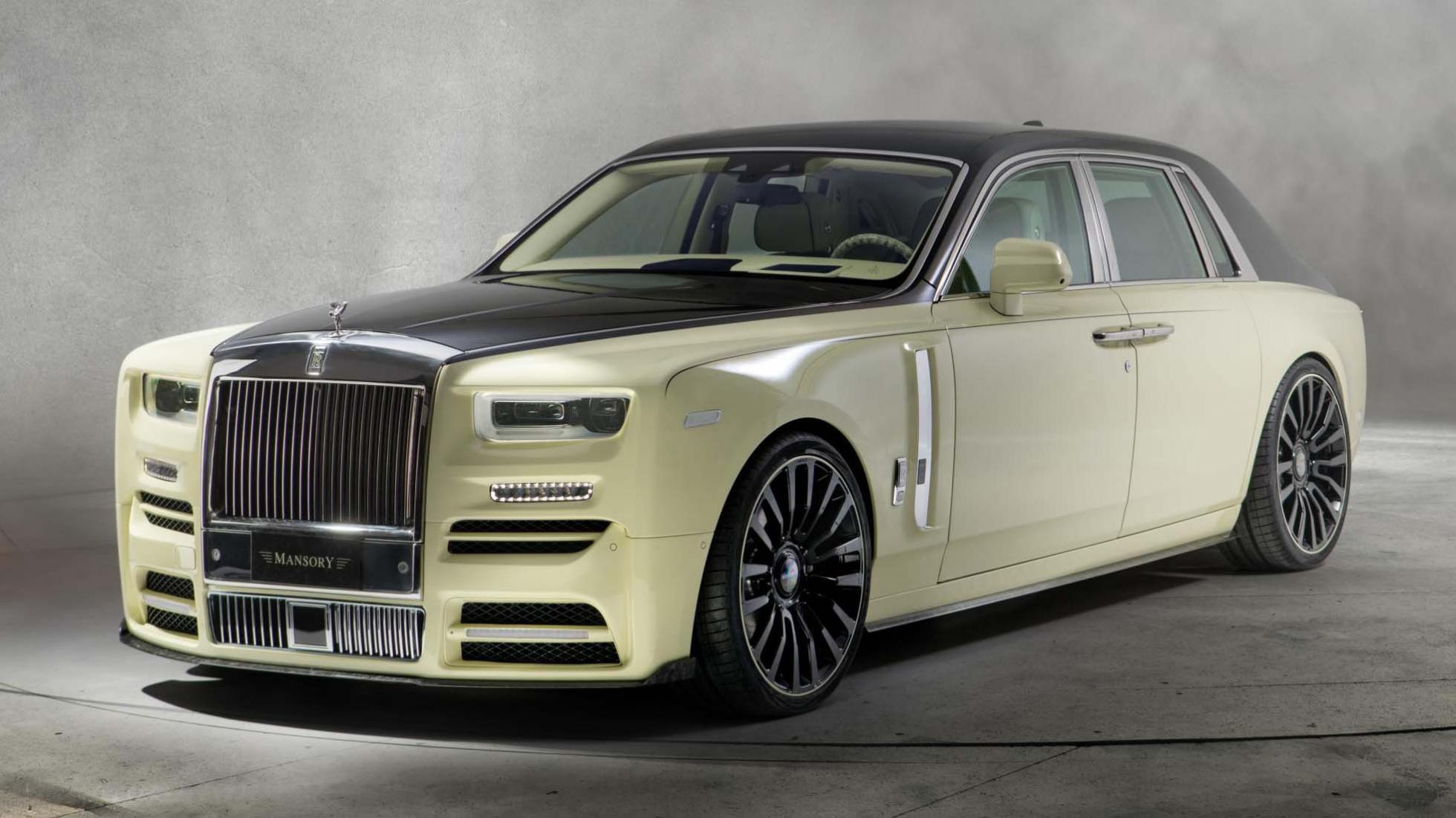 green Rolls-Royce Phantom