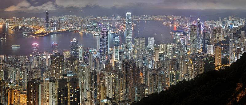Hong Kong Cityscape night image