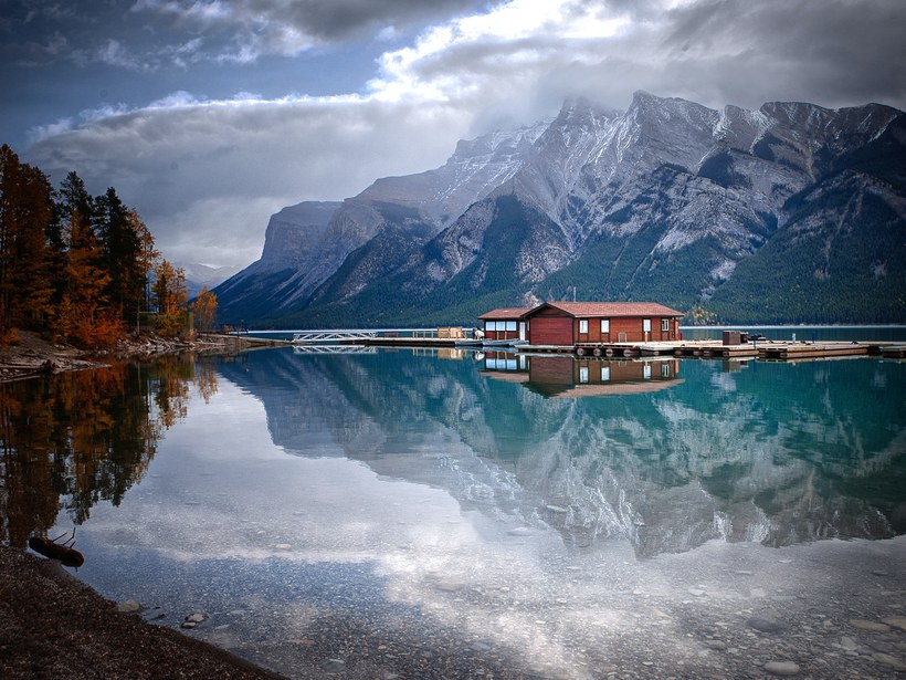 mountain beautiful lake image