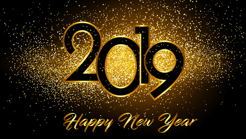 golden Happy New Year 4K