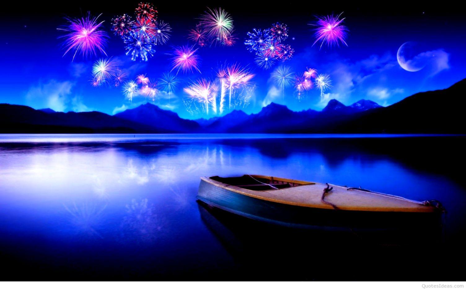 wallpaper of Happy New Year 4K