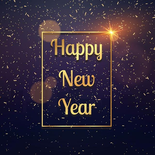 golden art Happy New Year Background