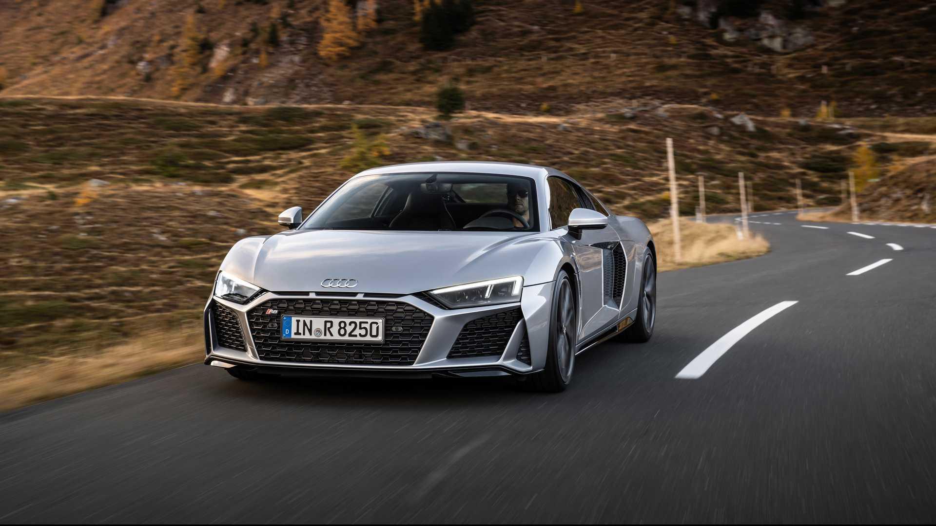 latest model Audi R8 V10 RWD Spyder