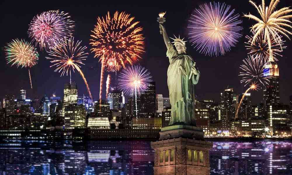 night city Happy New Year Background