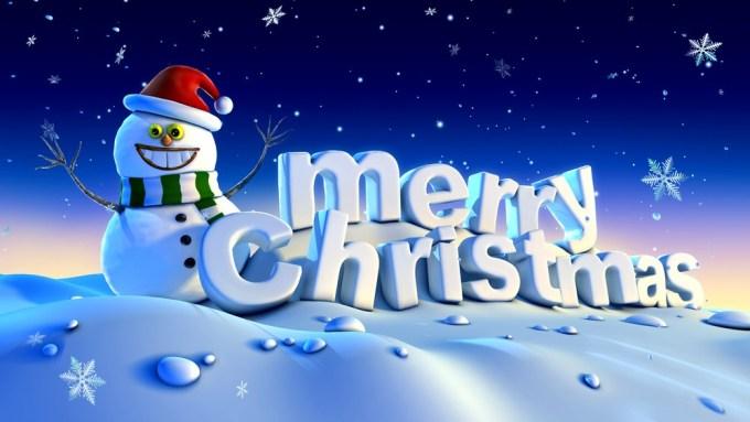 snowman Merry Christmas Image
