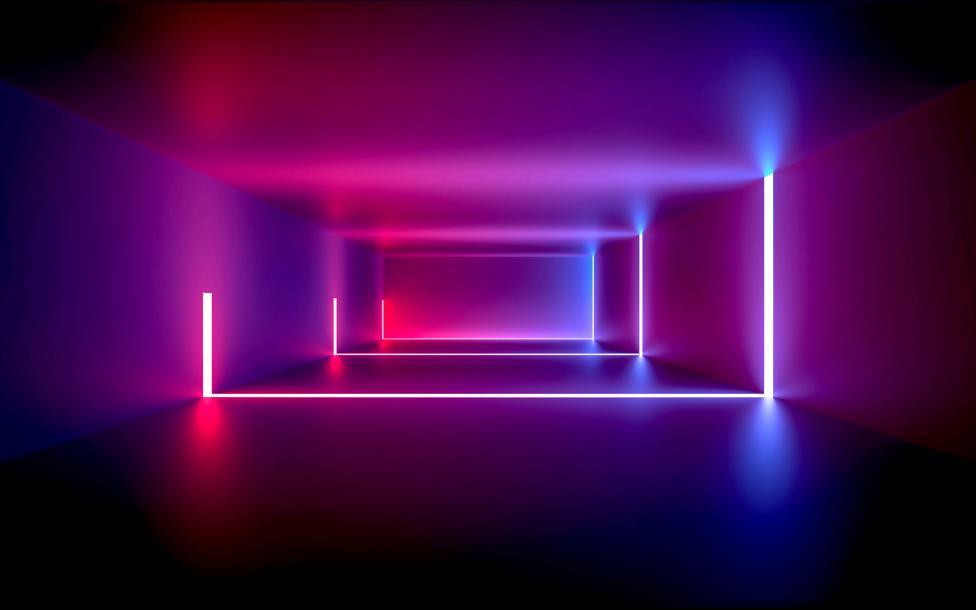 cuarto con luces neon