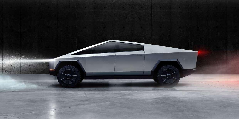 grey Tesla Cybertruck Interior image