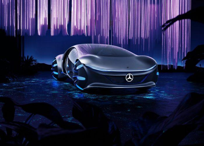 purple Mercedes-Benz VISION AVTR