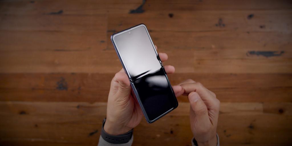 full top Samsung Galaxy Z Flip