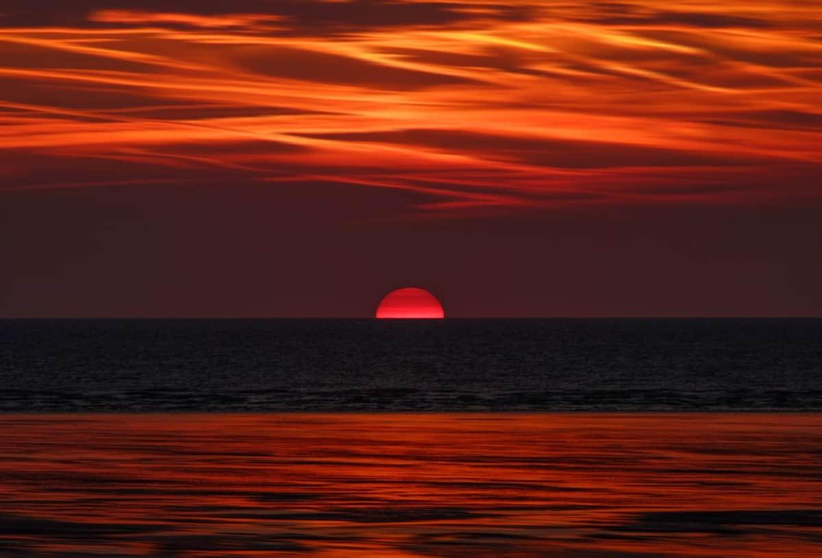 lovely view Sunset Wallpaper