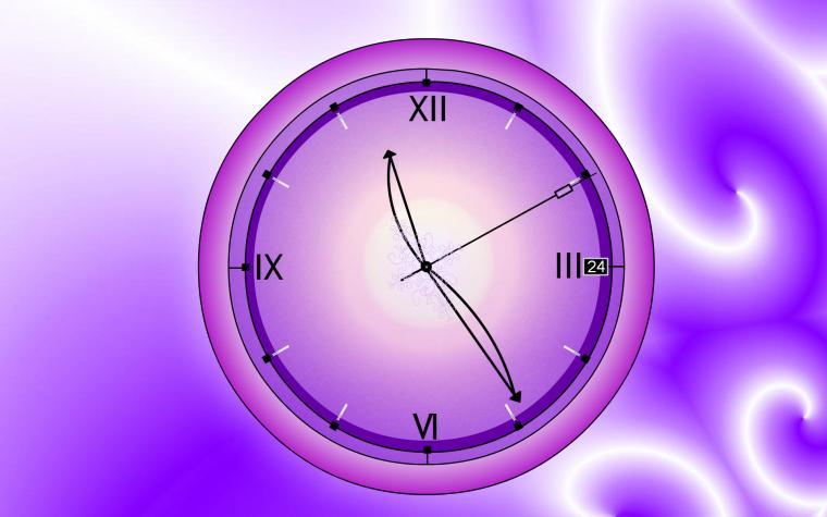 purple Clock Wallpapers