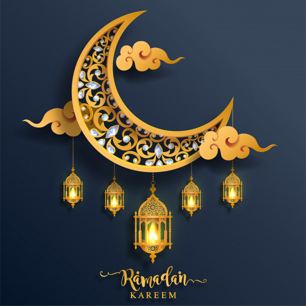 gold crestal Ramadan Kareem