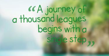 a journey of thousand league