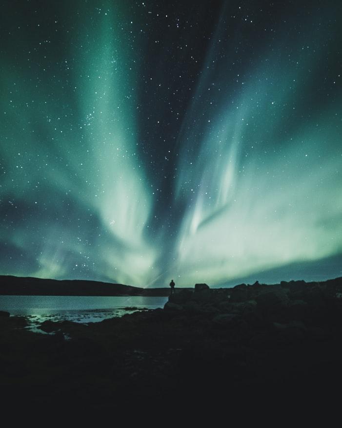 widescreen nature Northern Lights Wallpaper