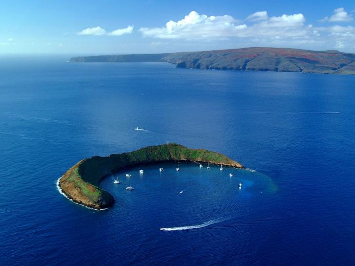 awesome view Molokini Island Wallpaper