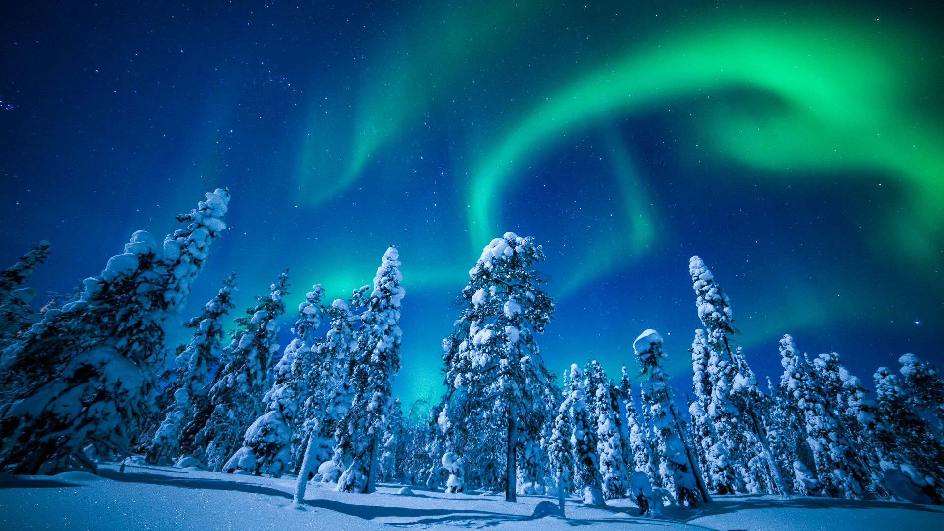beautiful nature Lapland Wallpaper