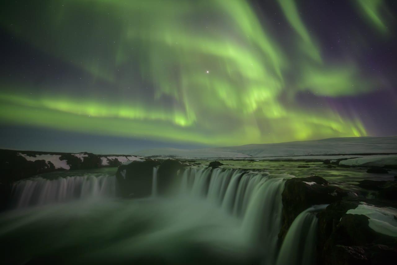 green hd Godafoss Waterfall Images