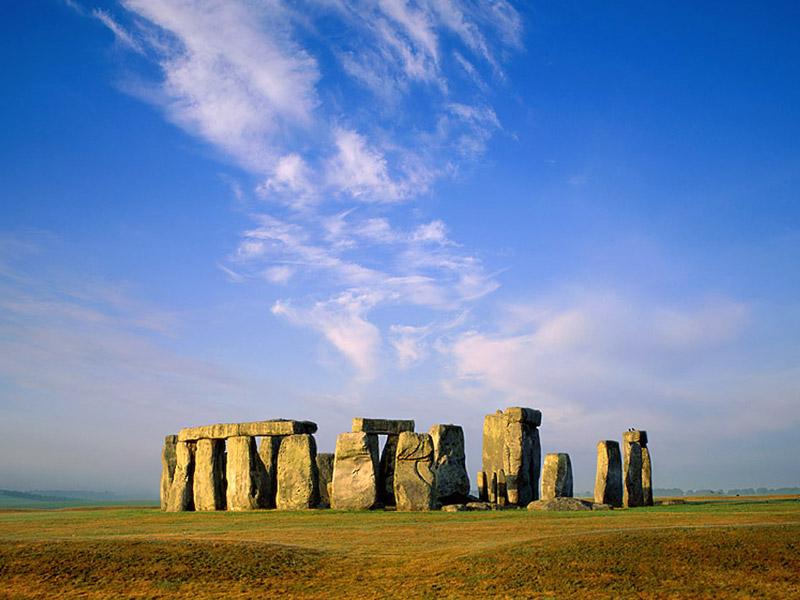 landscape nature Stonehenge Wallpaper