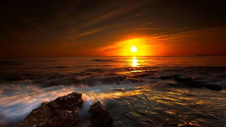 sundown nature HD Horizon Wallpaper