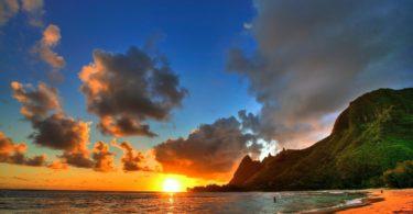 sundown nature Hawaii Wallpaper