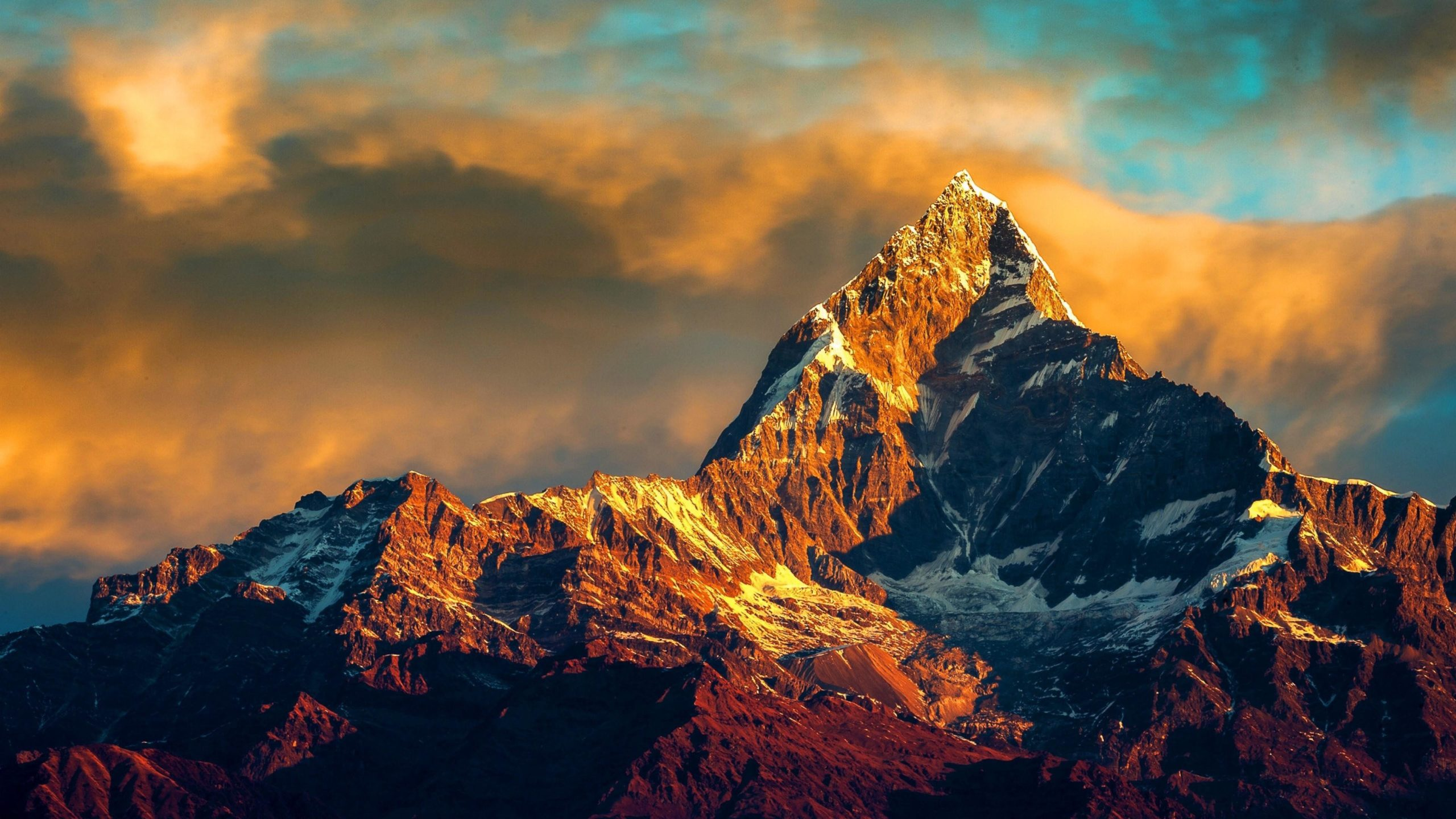widescreen nature Himalayas Wallpapers 4K