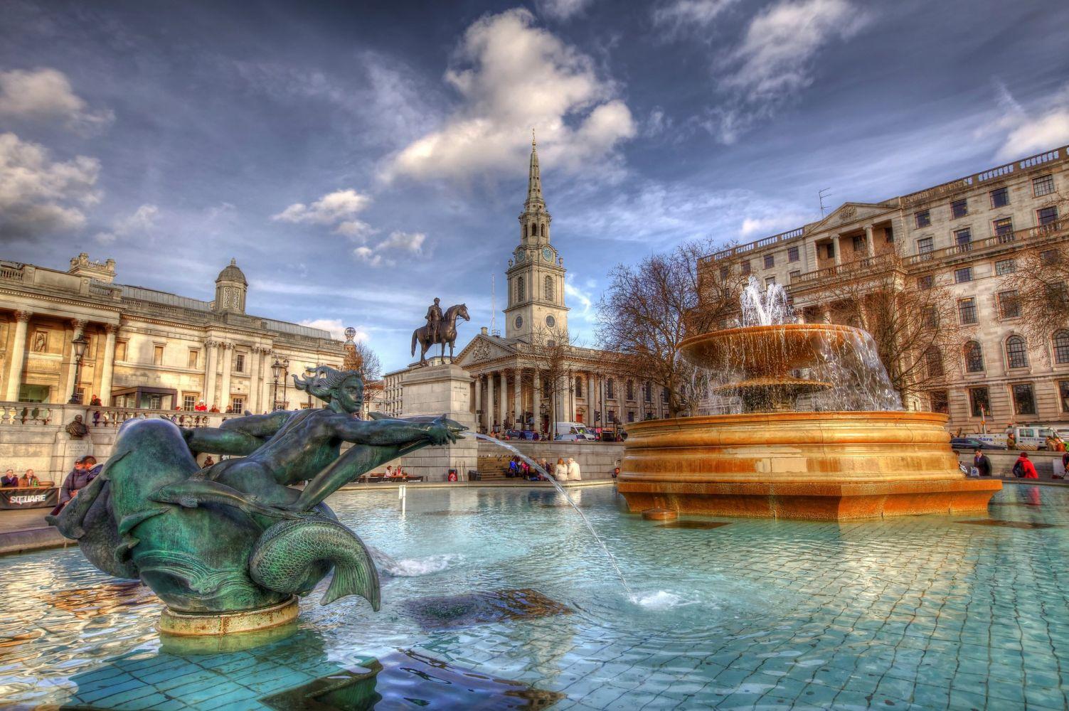 wonderful view Trafalgar Square Wallpaper