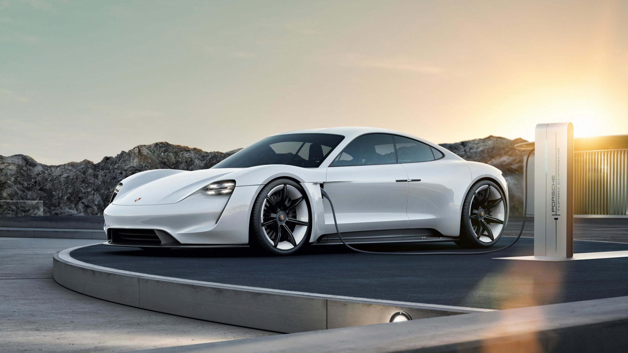 beautiful car Porsche Taycan Wallpaper