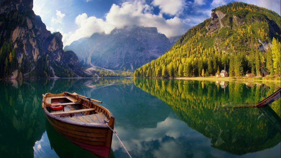 lake nature Pragser Wildsee Wallpaper