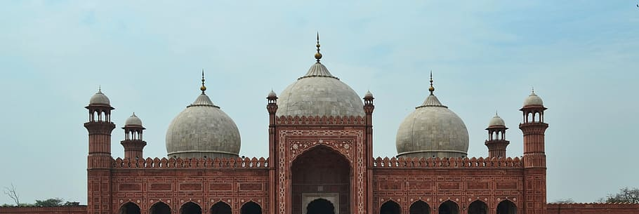 brown and grey Badshahi Mosque Wallpaper