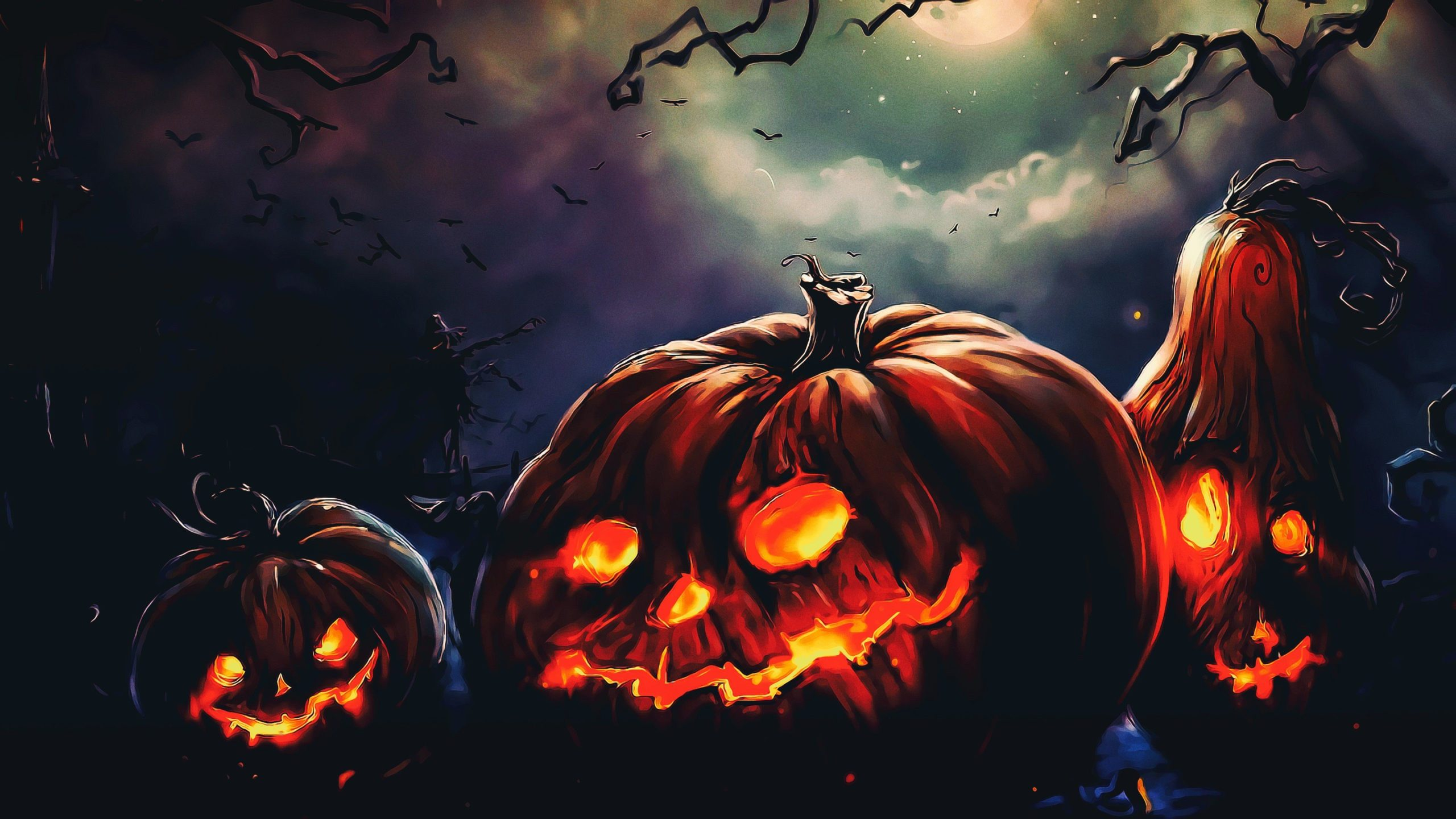 field HD Halloween Wallpaper