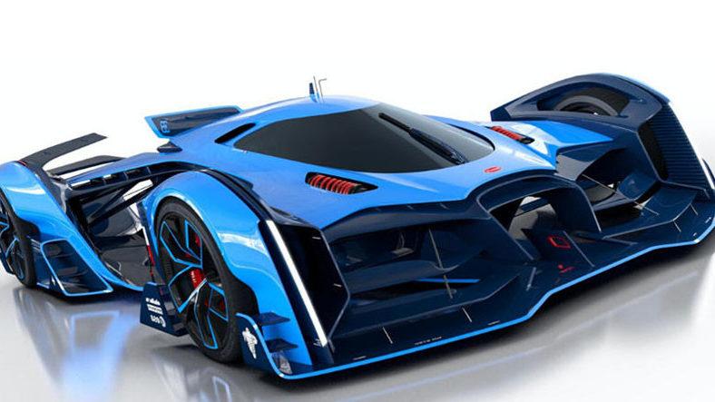 wallpaper of Bugatti Vision Le Mans