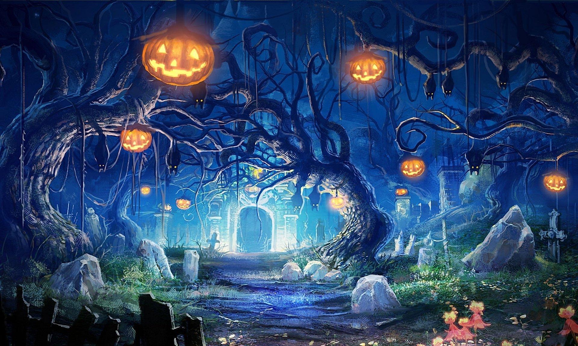 widescreen HD Halloween Wallpaper